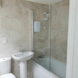 completed bathroom installation gower